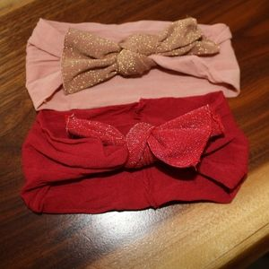 RED AND PINK BABY BLING HEADBANDS
